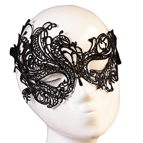 HCFKJ 2017 Mode Halloween Lace Augenmaske Masquerade Ball Halloween Party Fancy KostüM Schwarz