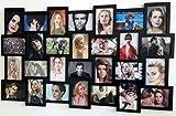 Rebecca Mobili Cadre Photos Multiples, Collage Murale , pour 28 Photos au Format 10x15, Noir - Dimensions: 58 x 103 x 2 cm (HxLxL) - Art. RE4029