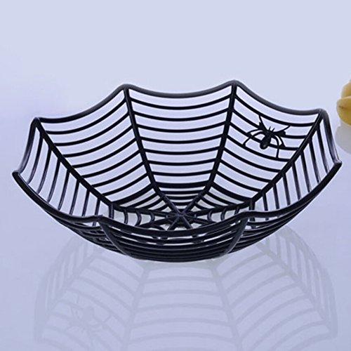 Shiningup 1 PCS Ecofriendly Plastik Spinnennetz Frucht Süßigkeit Bisuit Korb Für Halloween Parteien