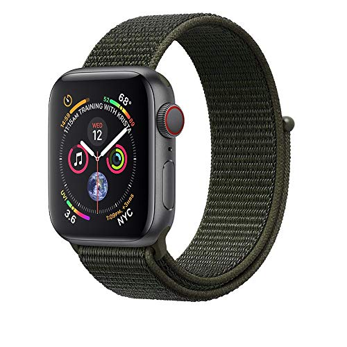 Corki für Apple Watch Armband 38mm 40mm, Weiches Nylon Ersatz Uhrenarmband für iWatch Apple Watch Series 4 (40mm), Series 3/ Series 2/ Series 1 (38mm), Cargo Khaki