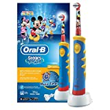 Oral-B Stages Power Kids Elektrische Kinderzahnbürste, mit Timer im Micky Maus Design