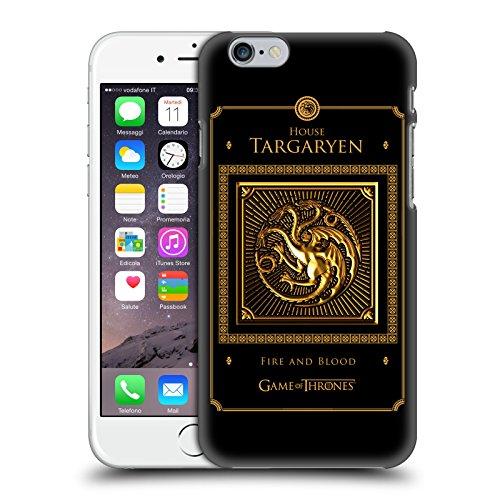 Ufficiale HBO Game Of Thrones All Houses Sigilli Dorati Cover Retro Rigida per Apple iPhone 5 / 5s / SE Targaryen Border