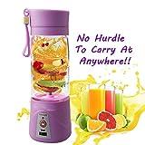 Dealsure Portable Plastic Fruit Juicer Blender 380 ml Bottle for Shakes and Smoothies (MutiColour).