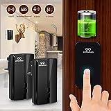 Wireless Doorbell, infinitoo No Battery Required IP44 Waterpoof Electric Doorbell with 2 Receivers