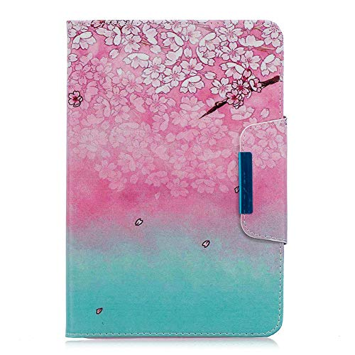 Coopay für iPad mini 1 2 3 7.9 Zoll Schutzhülle,Flip Full Body Lederhülle,Slim Damen Ledertasche,Bunt Muster Hülle,Ständer Funktion 360 Grad Smart Case Cover mit Weich Bumper Hüllen,Rosa Pflaumenblüte