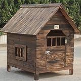 Massivholz-Hundehaus Indoor-Massivholz-Hundehütte Abnehmbarer hausförmiger Tierkäfig ( größe : 69*66*68cm )