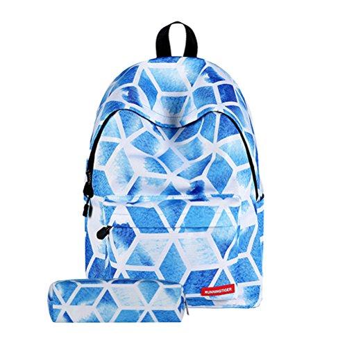TTD Galaxy patrón niños niñas chicos escuela Mochila bolsa liviana-peso para senderismo viajes camping Escuela-Enrejado del diamante