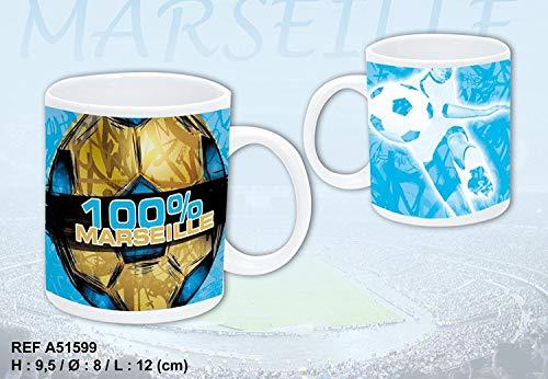 Mug 100% Marseille - Bleu et Jaune