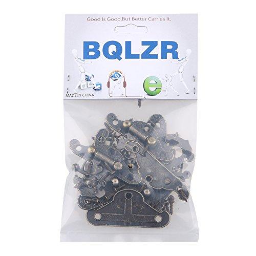 BQLZR Dekorative Bronze Legierung Vorhängeschloss Schließe S Größe Jewelry Box Packung von 4