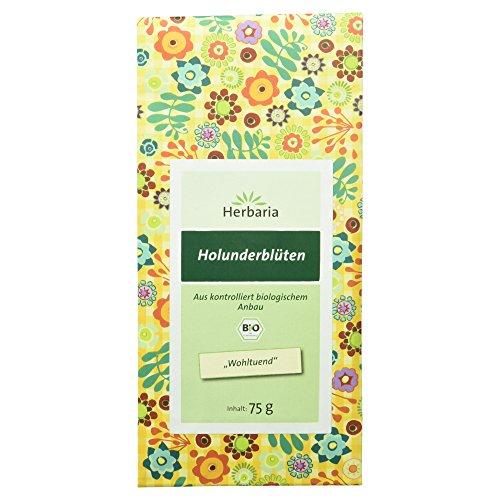 Herbaria Holunderblüten , 1er Pack (1 x 75 g Tüte) - Bio -