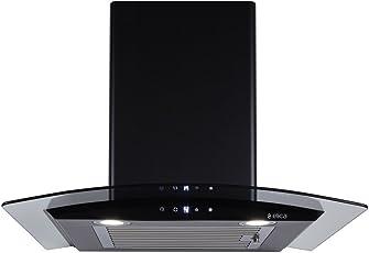 Elica 60 cm 1100 m3/hr Auto Clean Chimney (ESCG HAC 60 NERO, 1 Baffle Filter, Touch Control, Black)