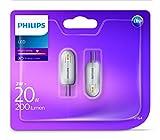 Philips LED-4-Kapsel-Glühbirne, 2W (entspricht 20W), Warmweiß, Synthetisch, silber, G4, 2 wattsW 12 voltsV