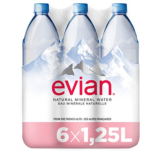 Evian Agua Mineral Natural Essence - Pack 6 x 1,25 l