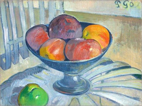 Posterlounge Acrylglasbild 160 x 120 cm: Obstschale auf Einem Gartenstuhl von Paul Gauguin/ARTOTHEK...