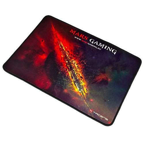 ALFOMBRILLA DE RATON MARS GAMING TALLA L 350X250 La alfombrilla MMP1 de Mars Gaming cuenta con una novedosa superficie de revestimiento nanotextil que ofrece una rápida capacidad de respuesta optimizando el deslizamiento del ratón. Juegues con ratÃ...