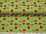 Jersey Stoff - Der kleine Biber - Kinderstoffe Meterware Baumwolljersey der Preis Gilt für 25 cm Länge. 12,00 Euro/Meter