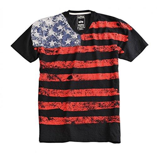 Alpha Industries Herren Oberteile / T-Shirt US Black