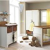 Izziwotnot Vanilla 4 Piece Cot Bed Furniture Room Set