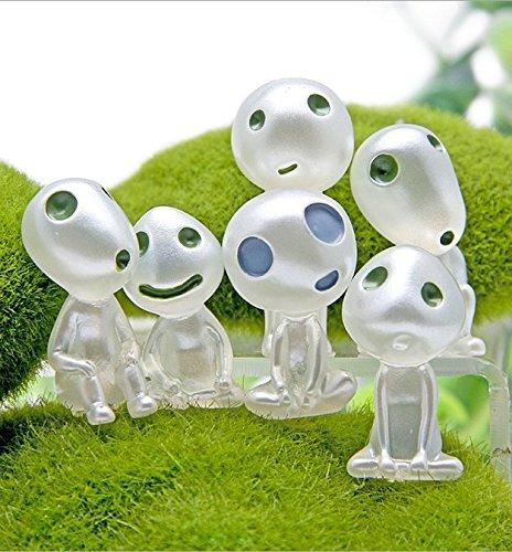 Bravehope Kunstharz Princess Light Tree Spirit Miniatur-Landschaft Garten Getopfte Dekoration 6PCS/Set