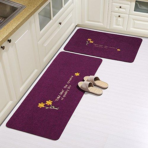 Lx.AZ.Kx Fußmatten Die Bäder sind Scheuerschwämme Küche bewegen Sie die Lange Drift Fußmatte Bereich Wasseraufnahme Saugfüße 40 cm * 60 cm +50 cm * 120 cm, Die erste Blume