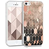 kwmobile Apple iPhone SE / 5 / 5S Hülle - Handyhülle für Apple iPhone SE / 5 / 5S - Handy Case in Hellbraun Rosegold