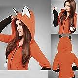 Bekleidung Damen,TWBB Fox Ears Kapuzenpulli Frauen Langarm Mantel Herbst Hoodie Jacke (XL, Orange)