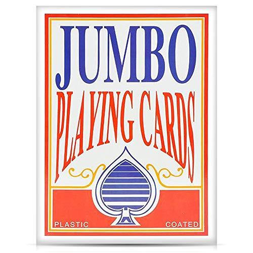 Iu Überdimensionale Super Big Poker Card Set   Riesige Casino Spielkarten Kinder, Männer, Senioren