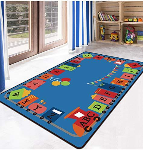 TWGDH Piso para Niños Juego Alfombra para Juegos Alfombra Lavable A Máquina Habitación para Niños Alfombra para Niños Alfombra para Niños,#1,80×120Cm