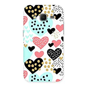Neo World Hearts Pattern Back Case Cover for Galaxy Core Prime