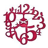 koziol Wanduhr  [pi:p],  Kunststoff, himbeer rot, 3,2 x 45 x 44,5 cm
