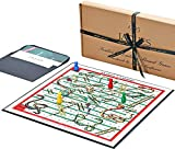 Luxury Snakes & Ladders - Snakes and Ladders Board Game Wooden Pieces - Jaques of London