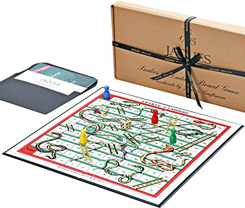 Chutes & Ladders - Luxury Snakes and Ladders Board Game by Jaques of London - Ladders Snakes