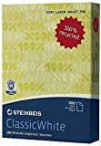 Steinbeis Eco-Premium-Papier - ClassicWhite 2500 Blatt - 80 g/qm - ISO70 - DIN-A4 - Cradle-to-Cradle®-Zertifikat in Silber - GRATIS VERSAND CO2-neutral