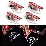 BSVLIA Logo per porta auto, 4 Pack logo LED per porta auto Logo LED per logo per W166 W212 W246 W176 W205 X 164 Benz Classe A Classe B Classe E Classe GL GLC GLE GLS GLA (4 pack)