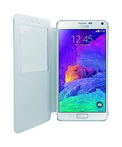 Phonix Öko-Leder Buch-Hülle für Samsung N910 Galaxy Note 4 weiß