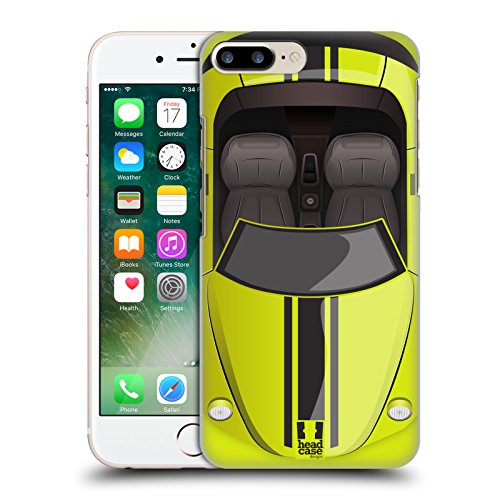 Head Case Designs Blau Autos Handy Hülle Serie 2 Ruckseite Hülle für Apple iPhone 5 / 5s / SE Zitrone