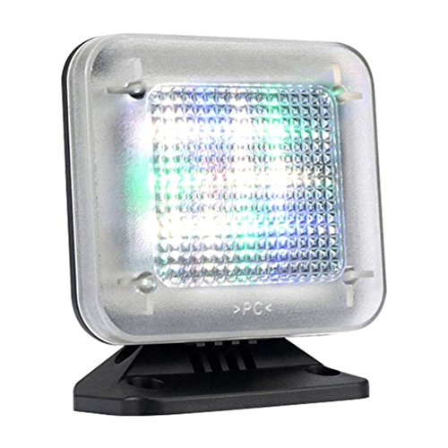 4VWIN Home-Security LED TV-Simulator zum Einbruchschutz mit Lichtsensor und Timer Funktion
