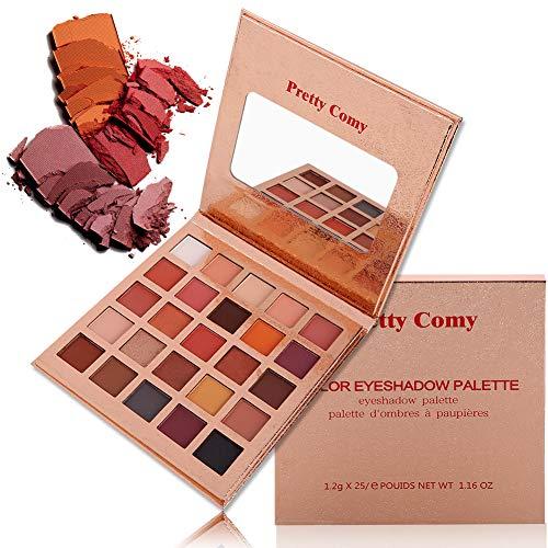 Lidschatten Palette Makeup Palette, 25 Farben Matt & Schimmer Stark Pigmentierte Lidschatten von Pretty Comy