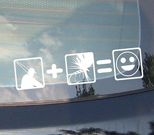 Köder Angler - Fliegenfischen Fly fishing Car Stickers Aufkleber Auto Wandaufkleber Wandsticker Wandtattoo (Fliegenfischen Aufkleber)