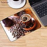 Immagine del caffè grande nuovo design velocità pad tappetino per mouse pad piccolo formato 180 * 220 * 2mm tappetino per mouse dalla parte superiore e da ufficio 22x18 cm