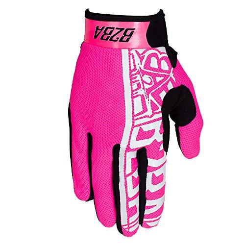 B2BA Clothing RACEWEAR leichte Handschuhe Mountain Bike Downhill Enduro Motocross Freeride DH MX MTB BMX Quad Cross, schnelltrocknend, rutschfest und atmungsaktiv, Farbe Neon Pink, Größe M (Motocross Jersey Usa)