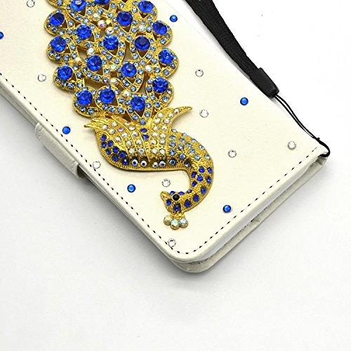 Für iPhone 7 Brieftasche Handytasche, Vandot 3D Glitzer Strass Slimfit Schutzhülle für iPhone 7 4.7 inch Handgefertigt Hülle PU Leder Book Type Flip Stand Case Cover Telefonkasten Diamant Bling Krista Diamant 04