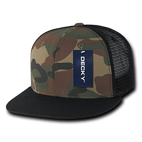 Decky Cotton Flat Bill Trucker Baseball Cap