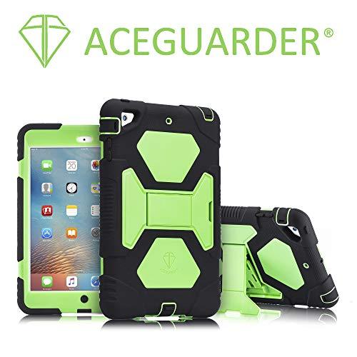 A2-16iPad mini Fall, Aceguarder Full Body Schutz Gummi Hard Cover (schlagfest) (stoßfest) (kratzfest) mit integrierter Displayschutzfolie und verstellbarem Ständer für Apple iPad Mini 123...