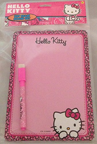 HELLO KITTY DRY ERASE BOARD Set with Board (6