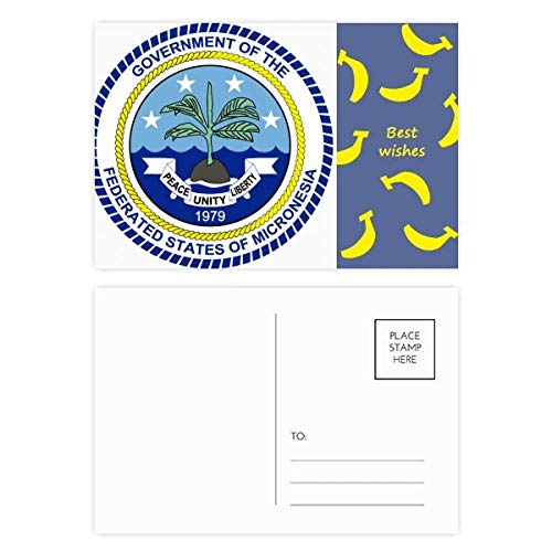 DIYthinker Mikronesien National Emblem Banana Postkartenset dankt Karte Mailing Side 20pcs 5.7 Zoll x 3.8 Zoll Mehrfarbig (Karte Von Mikronesien)
