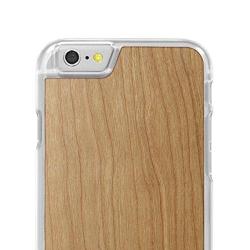 Cover-Up #WoodBack Hülle aus echtem Holz in klar für iPhone 6 / 6s - Kirsche - cherry