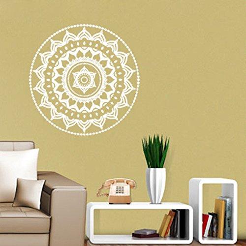 a Blume Indische Schlafzimmer Wandtattoo Kunst Aufkleber Wandhaupt Vinyl Familie WH hause garten küche zubehör dekorative aufkleber wandbilder ()