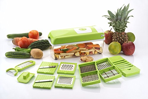 Globino Galaxy 12 in 1 Green Fruit And Vegetable Cutter With Chopper