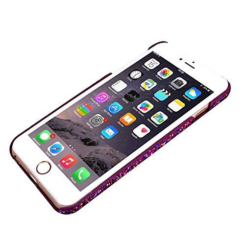 Etsue pour Apple iPhone 6 Plus/6S Plus 5.5,Scintillement Luxe Luxury Cover Boîtier en PC Plastique Coque Housse pour Apple iPhone 6 Plus/6S Plus 5.5,Coloré Colorful Glitter Bling Diamant Étui Rigide p Pourpre